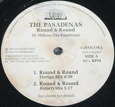 "THE PASADENAS * ROUND & ROUND * Classic Soul Funk Boogie 12"" Vinyl"