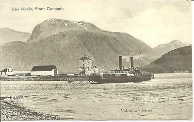 "MacBRAYNE STEAMER PS ""Pioneer"" BERTHED Corpach  Fort William Caledonian Canal"