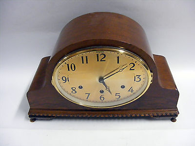 OLD LARGE WOODEN MANTEL CLOCK Saint Francis Hospice (BWF)