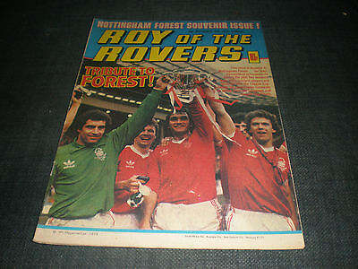 Roy Of The Rovers Comic Book 15Th Sep 1979 Football Gift Idea Birthday Christmas