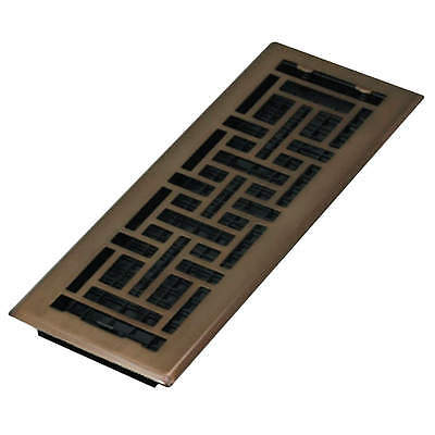 DECOR GRATES 4x14 Oriental Steel Plated Rubbed Bronze AJH414-RB