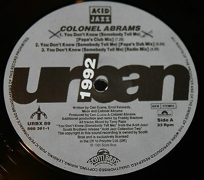 """COLONEL ABRAMS * YOU DON'T KNOW * Classic House 12"""" Vinyl"""