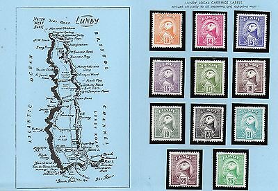 Lundy Is 1982 Definitives MNH in blue folder