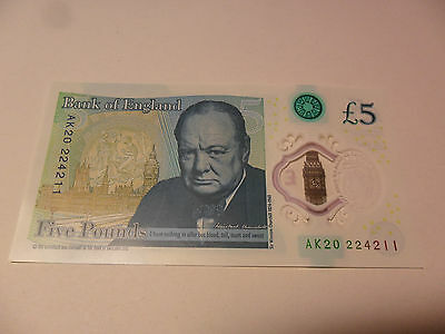 New Polymer UK £5  Banknote