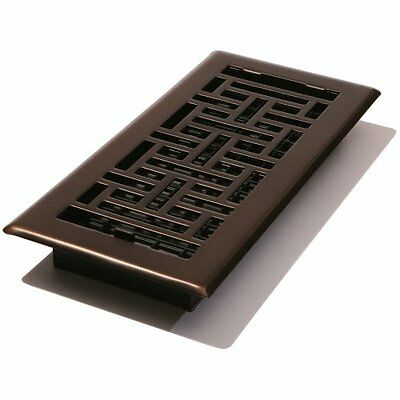 Decor Grates AJH212-RB Oriental Floor Register, Rubbed Bronze, 2-Inch by