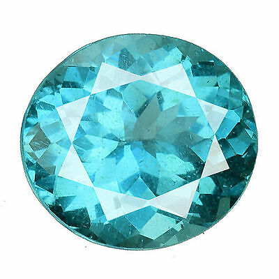 1.550Cts Amazing Luster Blue Green Natural Apatite Oval Loose Gemstones