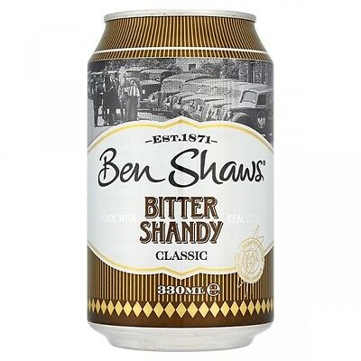 Ben Shaws Shandy Cans 24 x 330ml  Cans pop Drinks