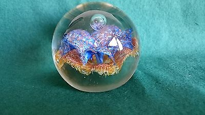 Vintage Caithness Aventurine Glass Paperweight Limited Edition 473 - 750