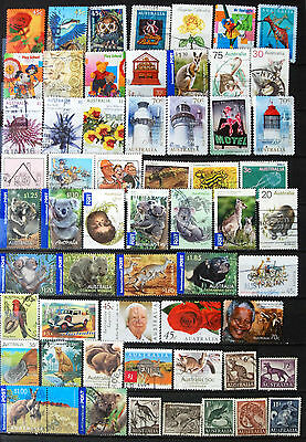 Great Collection of 250 different Used Australian Stamps, Hvs Int Post & Recent.