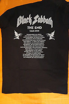 BLACK SABBATH 2016 THE END , European Tour T SHIRT size XL