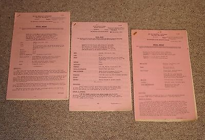 4 official BR(S) reports re accidents, irregularities: Winchfield,Ascot &c 1960s
