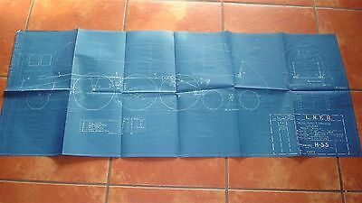 Genuine LNER A4 Class locomotive blueprint diagram: grease nipple lubrication