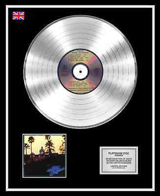 THE EAGLES Ltd Edition CD Platinum Disc Record HOTEL CALIFORNIA