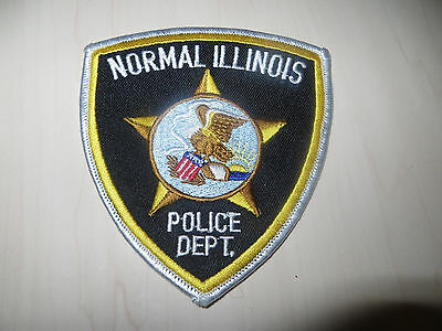 Embroidered Normal Illinois Police Patch