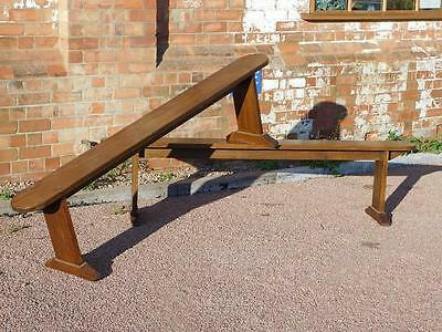 A GOOD PAIR OF 20thC ANTIQUE SOLID OAK DINING BENCHES