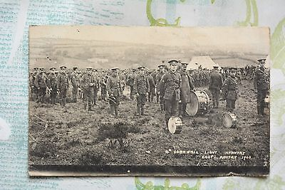 Postcard of Cornwall Light Infantry at East Anstey 1908