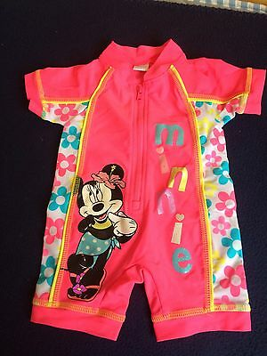Girls Disney Minnie Mouse Swimsuit 3-6 Months