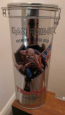 ** IRON MAIDEN - TROOPER -  Limited Edition Metal Tin - GLASS & BOTTLE **