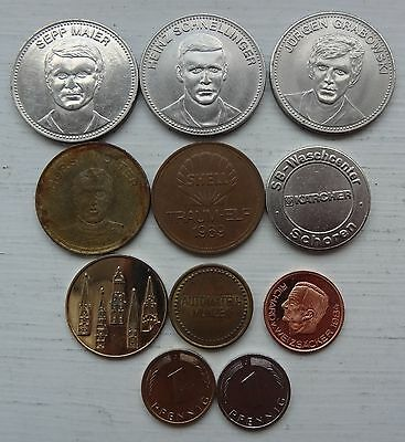 11 Assorted Tokens From Germany, Inc World Cup 1970