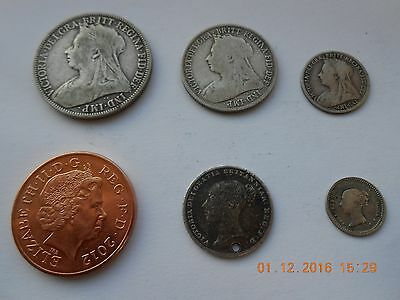 Collection of Victorian silver coins