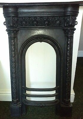 One piece cast fireplace