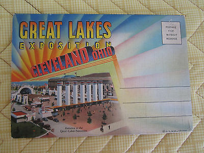 Great Lakes Exposition Cleveland Ohio. Souvenir Packet