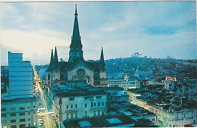 Colombia Postcard. Manizales. Night panorama of the city. Fine condition c 1960s