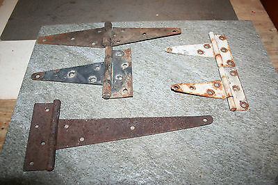 Mixed Lot of 5 - Vintage Antique Hinges Old Farm Barn Shed Door