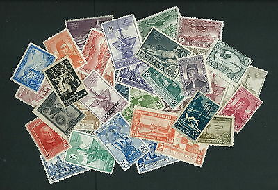 SPAIN fine hoard of 1930's mint hinged vals CV++? (35)