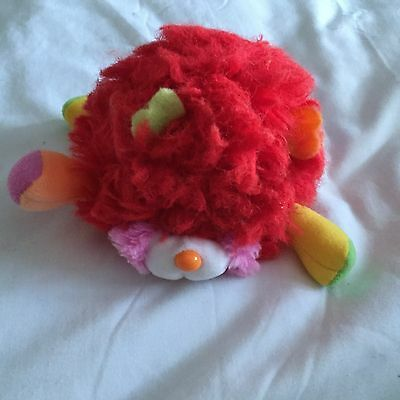 Vintage  Red Popples Puffling Soft Toy 1980's