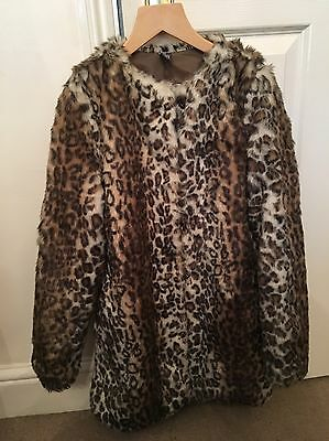 Girls Zara Fur Coat Age 9-10
