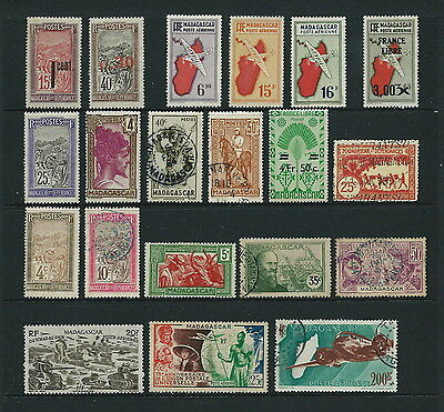 MADAGASCAR interesting early / mid Mint & Used lot (20)