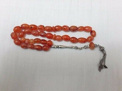 Carnelian Agate Prayer Beads Tespih