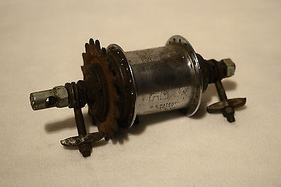 1957 Sturmey Archer Sw 3 Speed Geared Vintage Bicycle Rear Hub