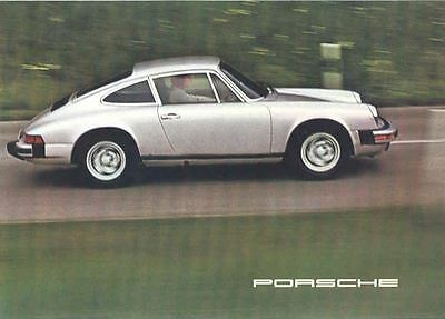 1975 Porsche 911 911S Carrera Color Brochure  mw7029-54MW31