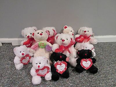 Lot of 11 Valentine's Day Bears – NEW