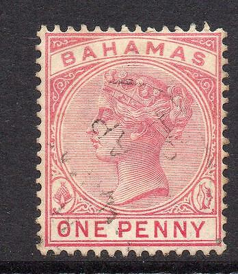 Bahamas 1 Penny Stamp c1884-90 Used SG47