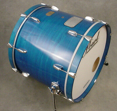 PEARL EXPORT 22x18 BLUE STAIN BASS / KICK DRUM, NEAR MINT CONDITION