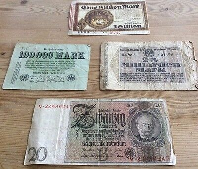 Collection of 1920's German bank notes!