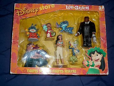 Disney Store Exclusive LILO AND STITCH 7 Figure Toy Set RARE NEW! Best Deal!