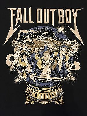 Fall Out Boy Wintour 2016 Concert Shirt Large Black