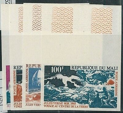 57852 -  LITTERATURE: Verne - MALI - stamps: MNH airmail set - UNPERFORATED!