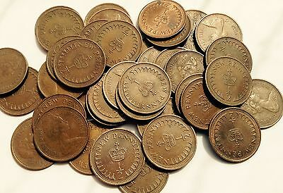Half Penny Queen Elizabeth 2nd From 1971 To 1981 Vintage Coins PreDecimal