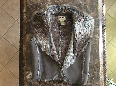 Mud Faux Fur Lining Women's Vest Size X Small