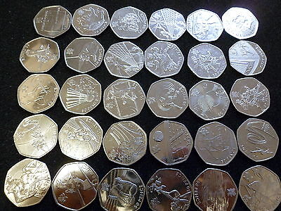 Rare 50p Fifty Pence Coins Olympic Game London 2012