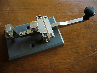 "Vintage ""swedish Pump"" Telegraph Key By Lennart Pettersson - Collector´s Item"