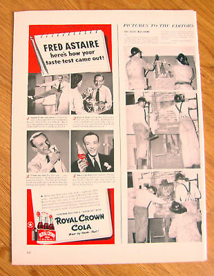 1942 RC Royal Crown Cola Ad Movie Star Fred Astaire