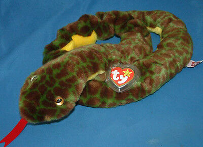 Ty Large Plush Beanie Buddy Slither the Snake  MWMT