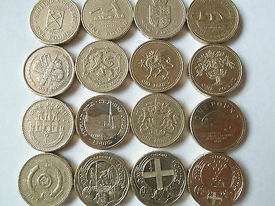 Rare British £1 One pound coins from 1988-2016