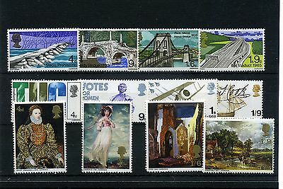 Gb.- 12 --- Qe2 Pre Decimal Mounted Mint Commen.stamps On Stockcard